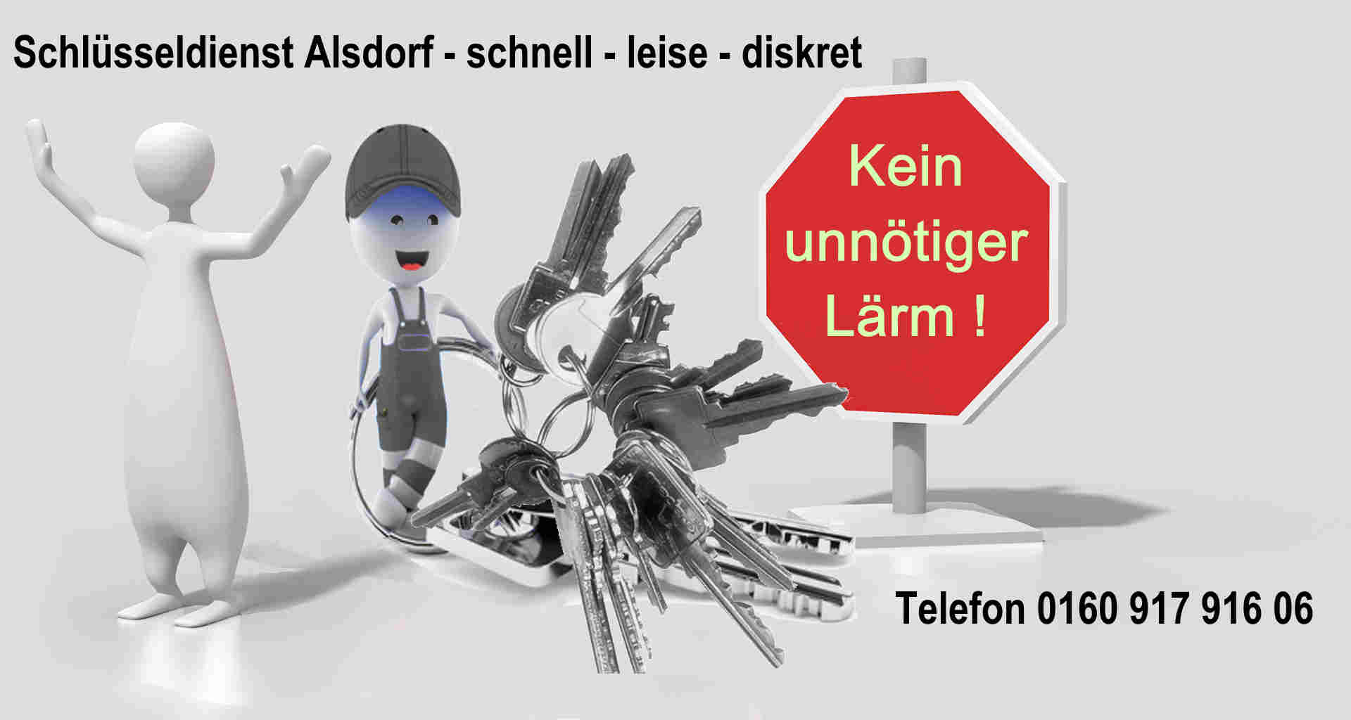 Schlüsseldienst Alsdorf ist Leise und diskret zum Festpreis