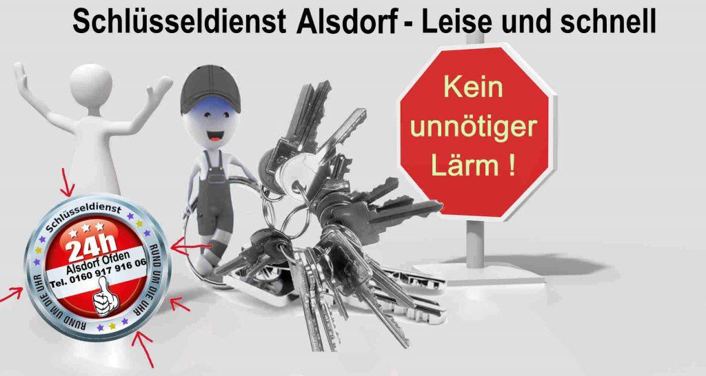 Schlüsseldienst Alsdorf Ofden - Kein unnötiger Lärm ! Diskret und Schnell zum Festpreis