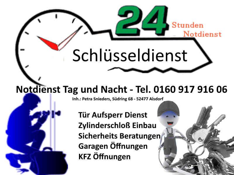 Schlüsseldienst Alsdorf Zopp sowie Alsdorf Hoengen, Alsdorf Mariadorf und Alsdorf Kellersberg - Alsdorf Broicher Siedlung und Alsdorf Ofden