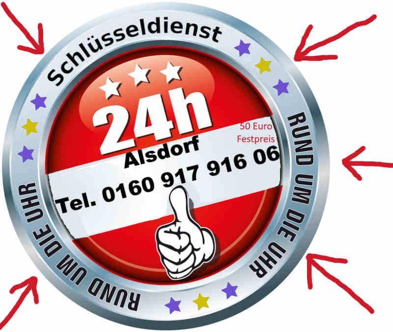 Schlüsseldienst Alsdorf mit 50 Euro Festpreis für Kellersberg, Ofden, Zopp, Busch, Mariadorf, Notdienst auch in Schaufenberg Ofden und Hoengen