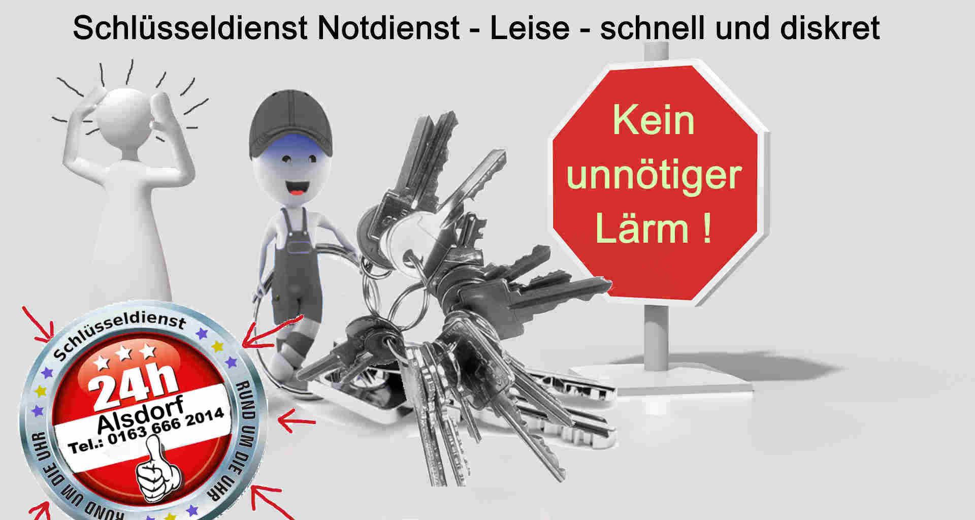 Schlüsseldienst Alsdorf - Leise und Diskret