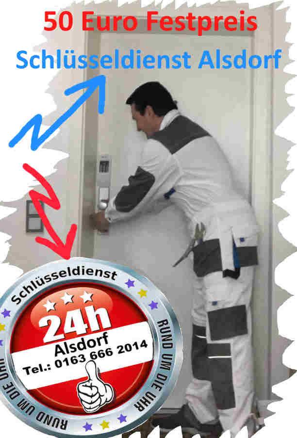 Schlüsseldienst Alsdorf zum 50 Euro Sofort Hilfe Festpreis - kostenfreie Anfahrt Tag und Nacht