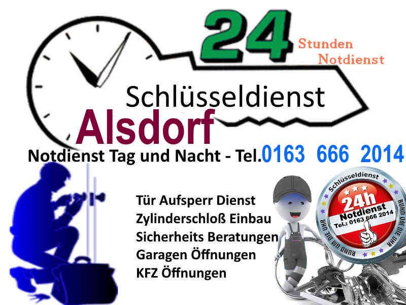 Schlüsseldienst Alsdorf Ost mit 50 Euro Festpreis bei kostenfreier Anfahrt - Tag und Nacht Sonn und Feiertags