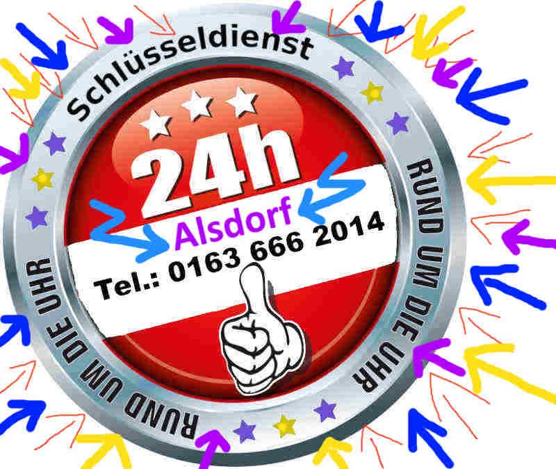 Schlüsseldienst Alsdorf Ost sowie Alsdorf Hoengen, Alsdorf Zopp und Alsdorf Mariadorf Notdienst - Tag und Nacht zum 50 Euro Festpreis