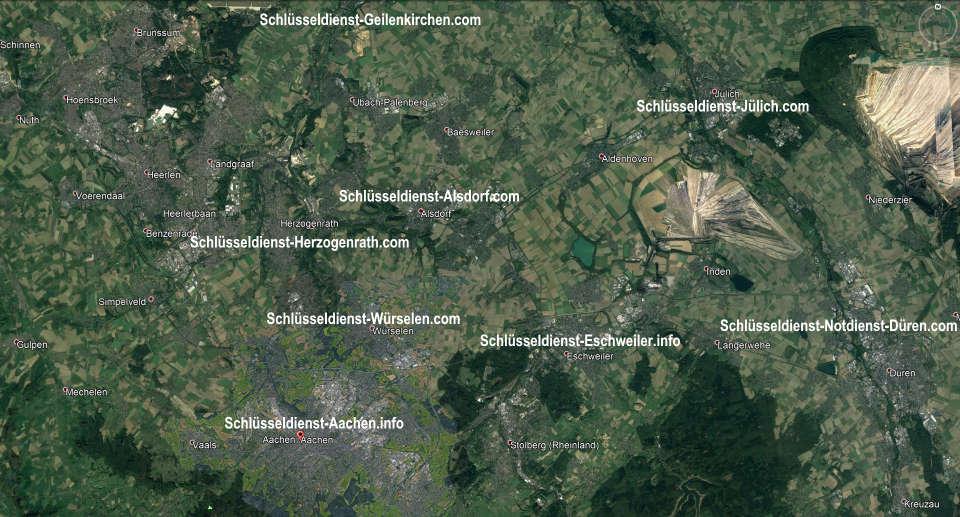 Schlüsseldienst Alsdorf - Karl Gebiet - 50 Euro Endpreis für jede Tür Öffnung - Anfahrt in diesem Gebiet GRATIS