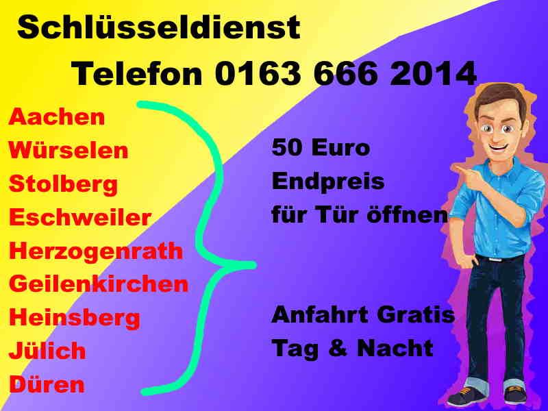 50 Euro Endpreis - Schlüsseldienst Baesweiler Aachener Straße