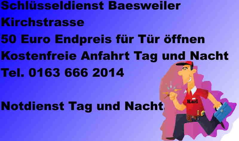Schlüsseldienst Kirchstrasse Baesweiler - Notdienst Monteur Karl